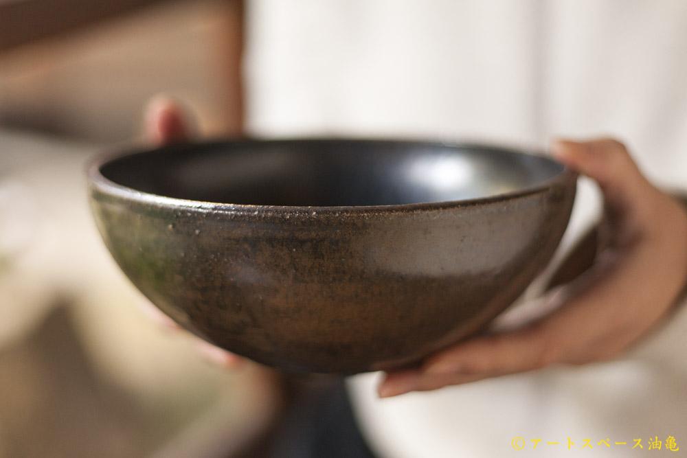 画像1: 田村文宏「黒褐釉鉢」