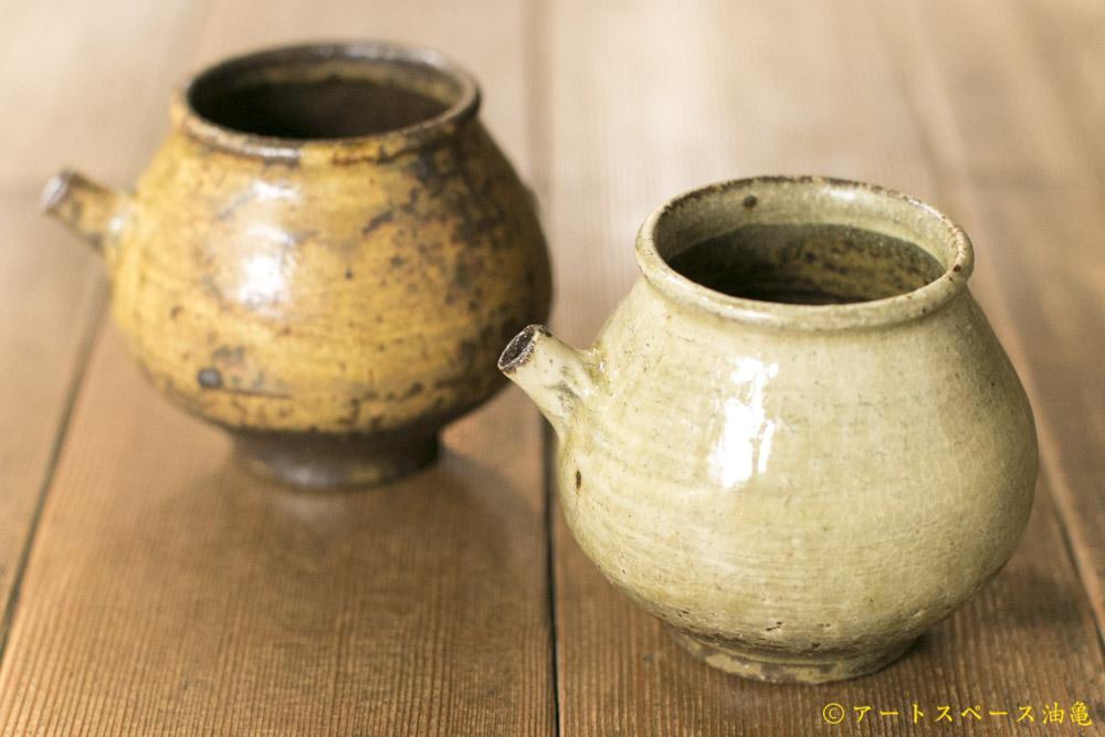 画像1: 田村文宏「灰釉粉引注器」