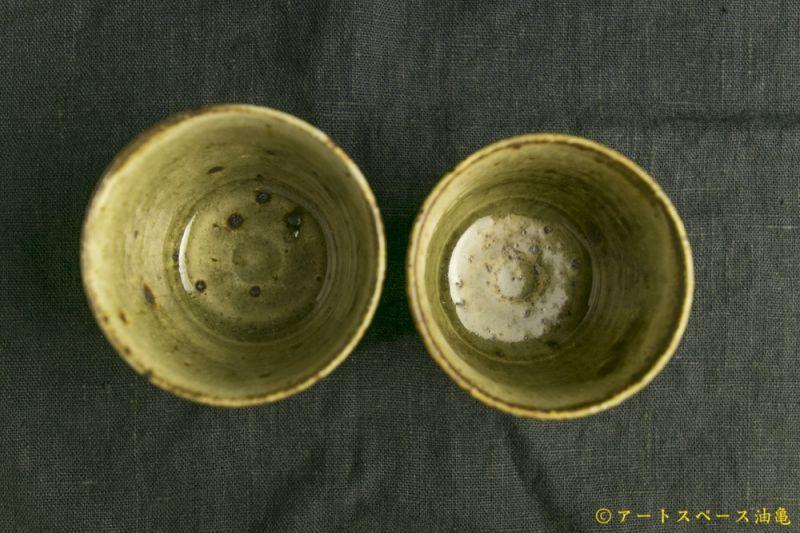 画像3: 田村文宏「灰釉粉引猪口」