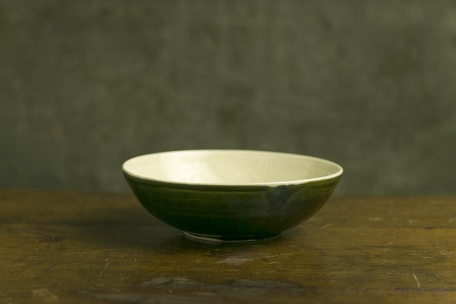 画像5: 田村文宏「白磁藍釉印花鉢」