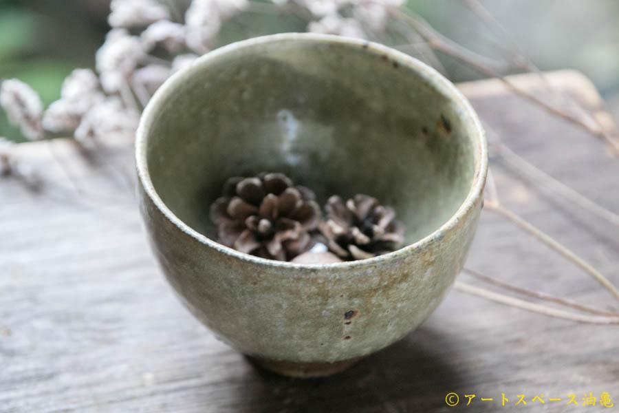 画像1: 田村文宏 灰釉粉引 丸湯呑