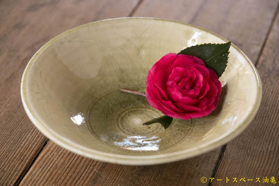 画像1: 田村文宏 灰釉 櫛目鉢