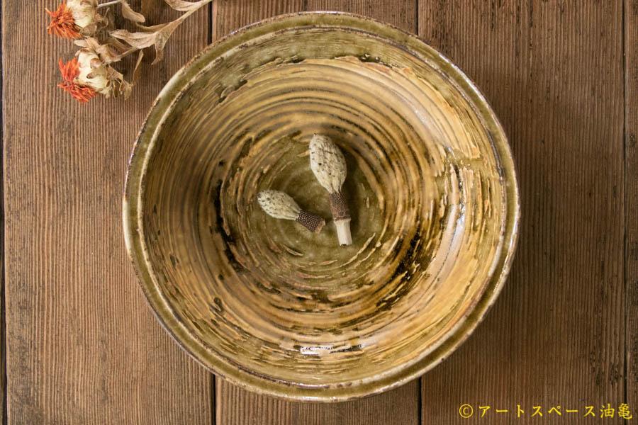 画像3: 田村文宏 灰釉 刷毛目 鉢
