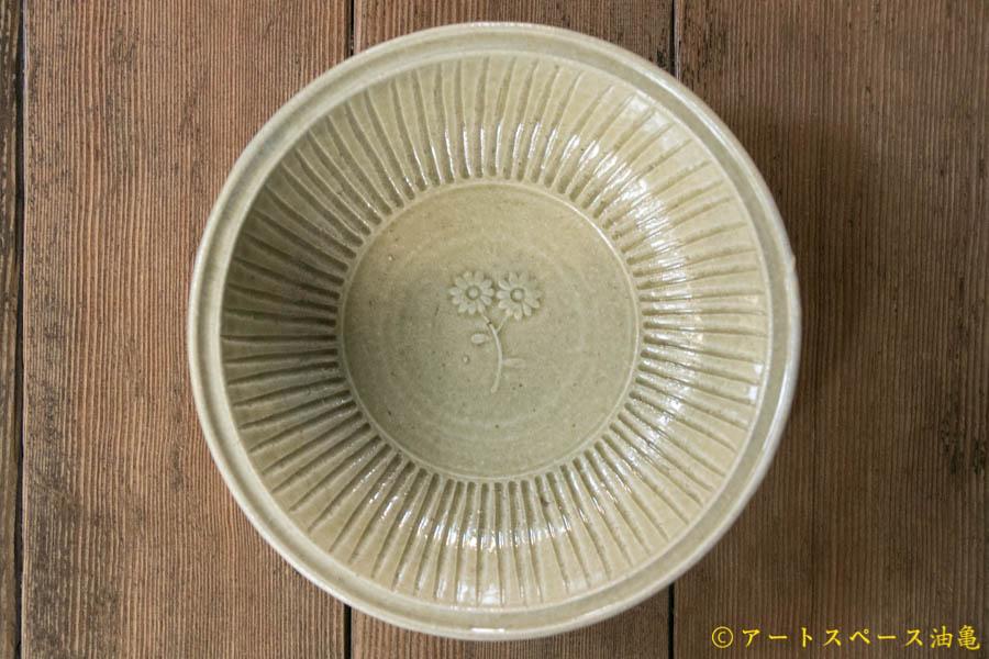 画像3: 田村文宏 灰釉印花 鎬鉢