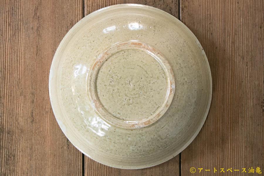 画像4: 田村文宏 灰釉印花 鎬鉢