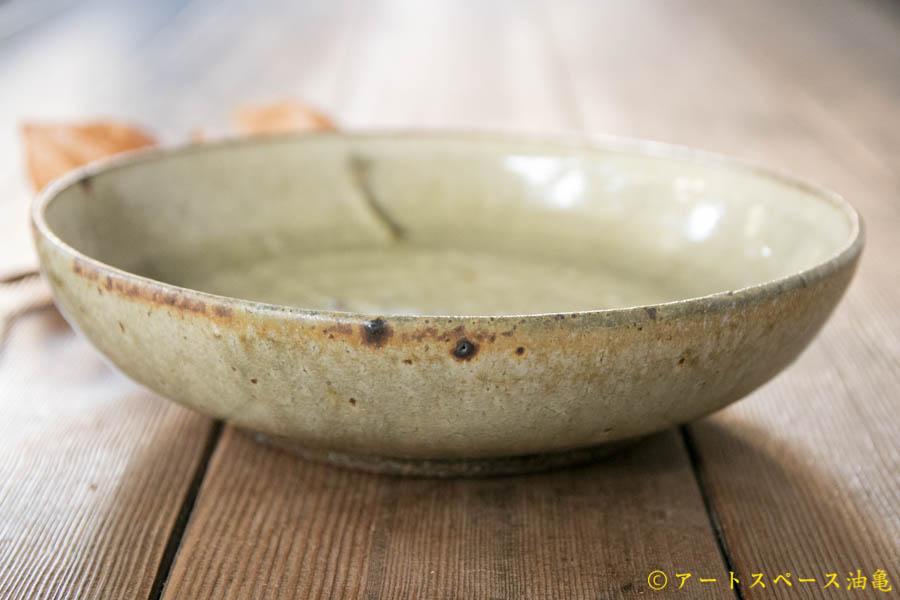 画像2: 田村文宏 灰釉粉引 深皿