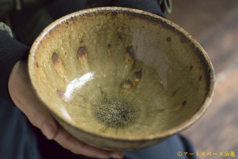 画像1: 田村文宏 灰釉粉引 どんぶり