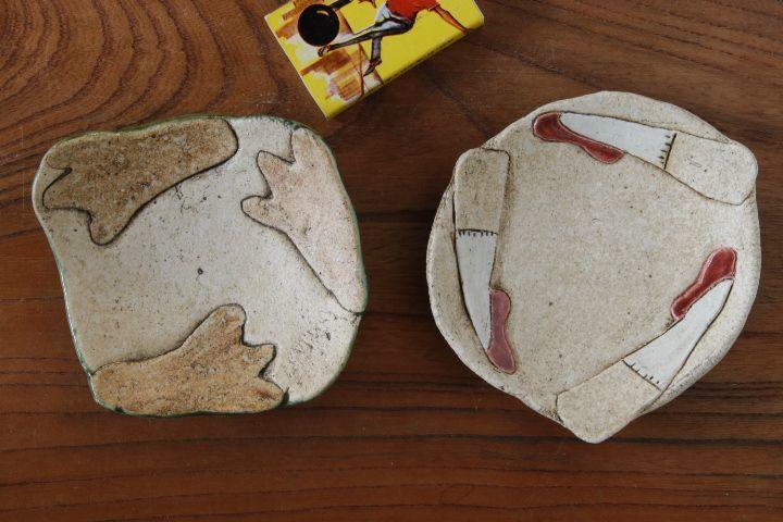画像1: タナベヨシミ「はりつけ 豆皿」