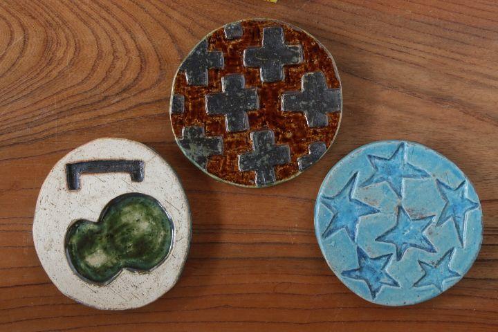 画像1: タナベヨシミ「板ほりこみ 豆皿」