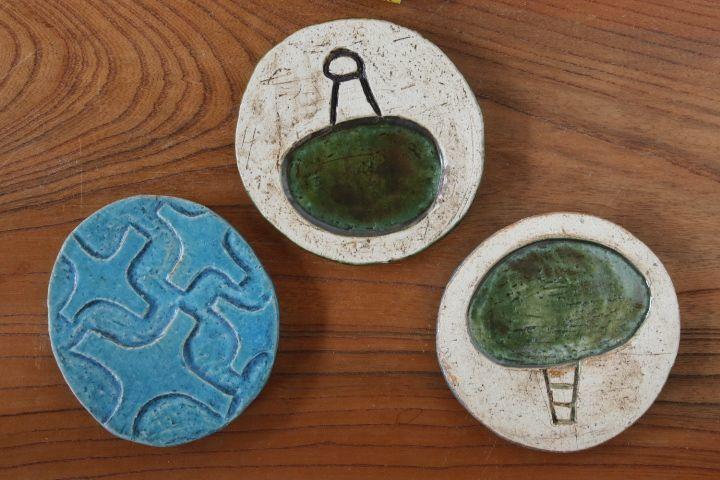 画像2: タナベヨシミ「板ほりこみ 豆皿」