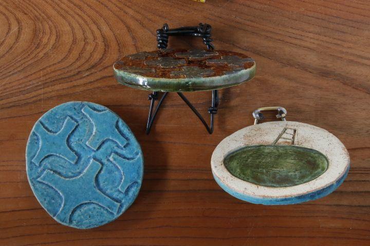 画像3: タナベヨシミ「板ほりこみ 豆皿」