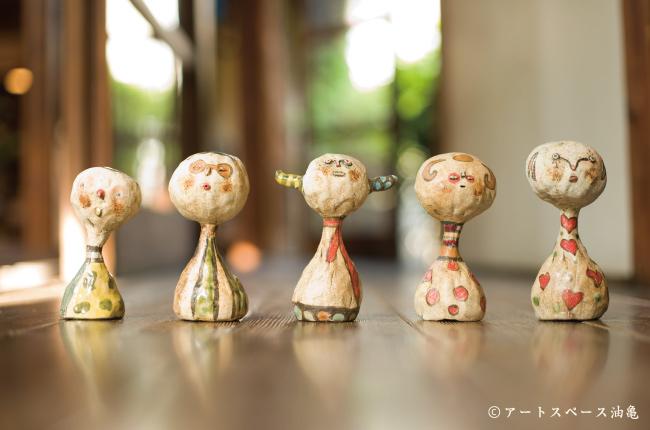 福岡県の陶芸家、タナベヨシミのうつわたち_アートスペース油亀