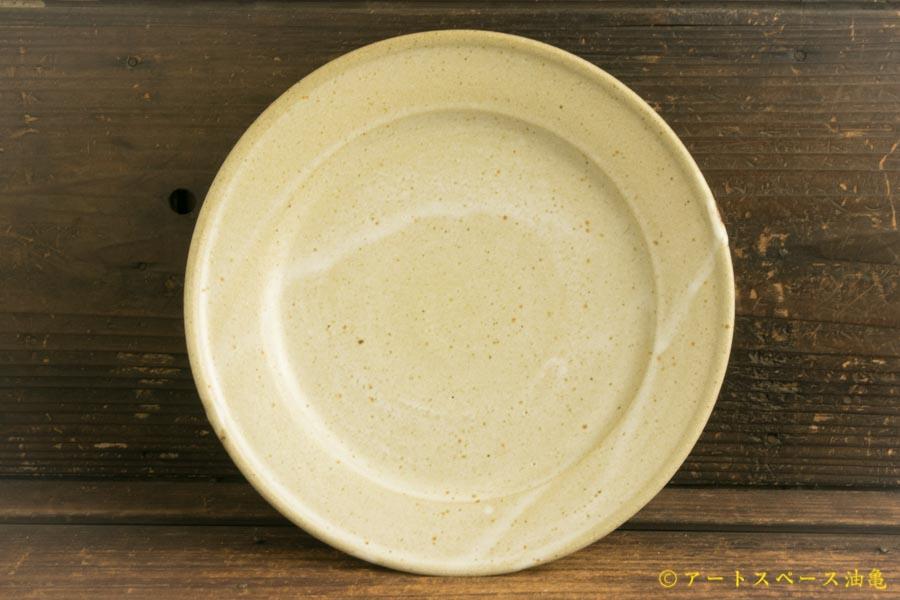 画像1: 寺村光輔「堅糠釉 7寸リム皿」