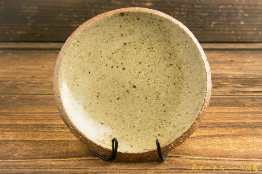 画像1: 寺村光輔「並白釉 4寸丸皿(薪)」