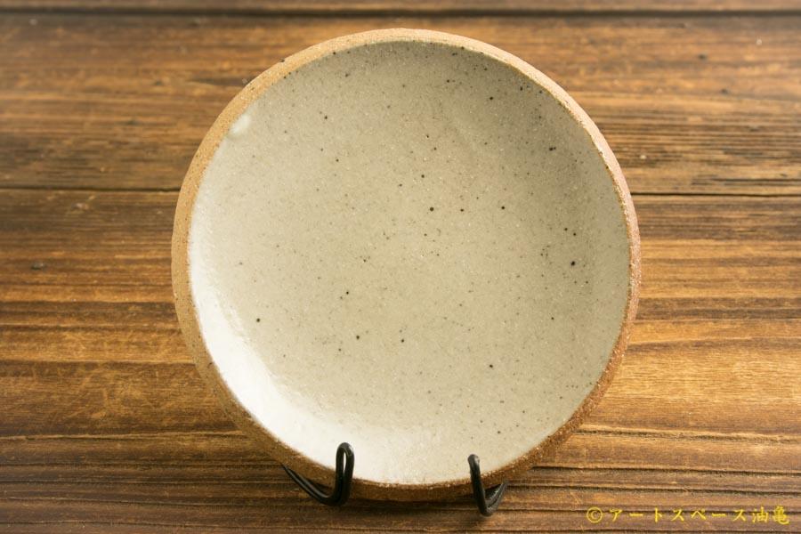 画像1: 寺村光輔「泥並釉 4寸丸皿(薪)」