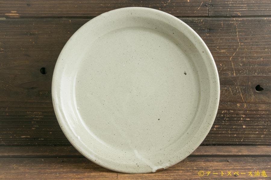 画像1: 寺村光輔「泥並釉 8寸リム浅鉢」