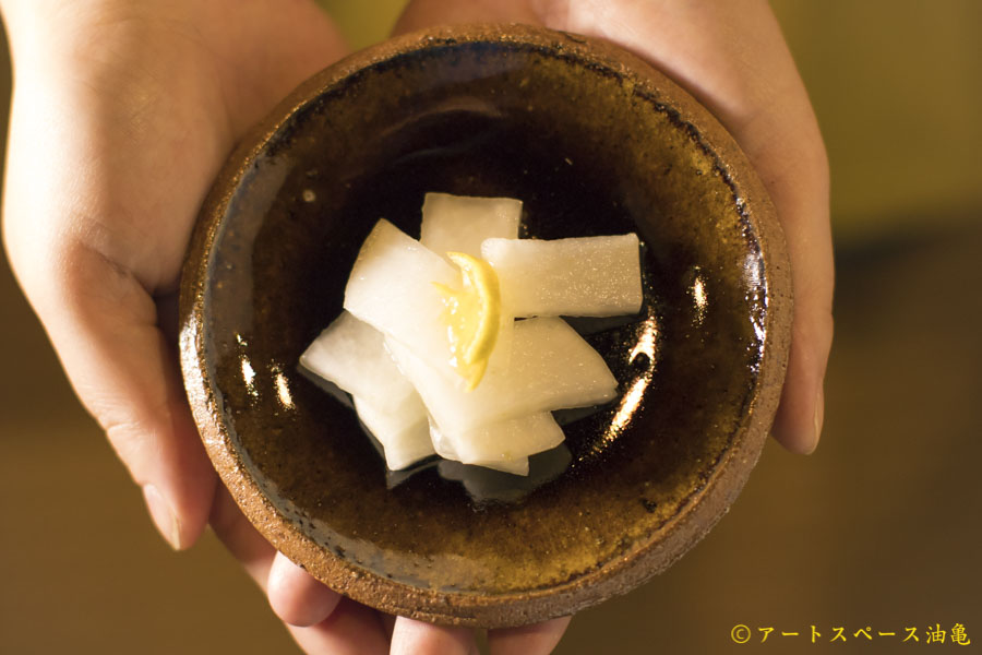 画像1: 寺村光輔「飴釉 4寸丸皿(薪)」