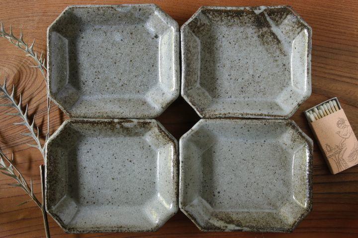 画像1: 寺村光輔「長石釉 八角皿」