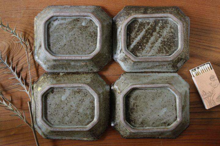 画像2: 寺村光輔「長石釉 八角皿」