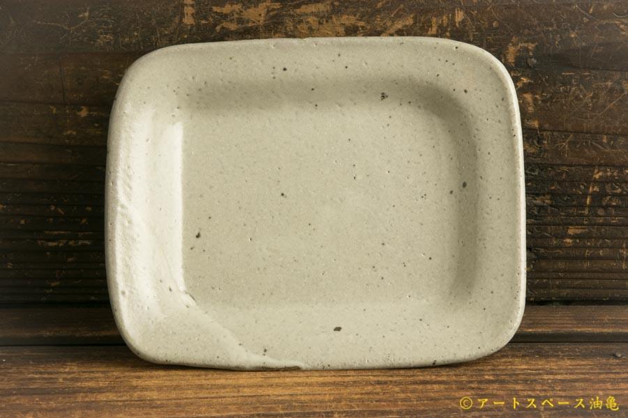画像1: 寺村光輔「泥並釉 角皿小」