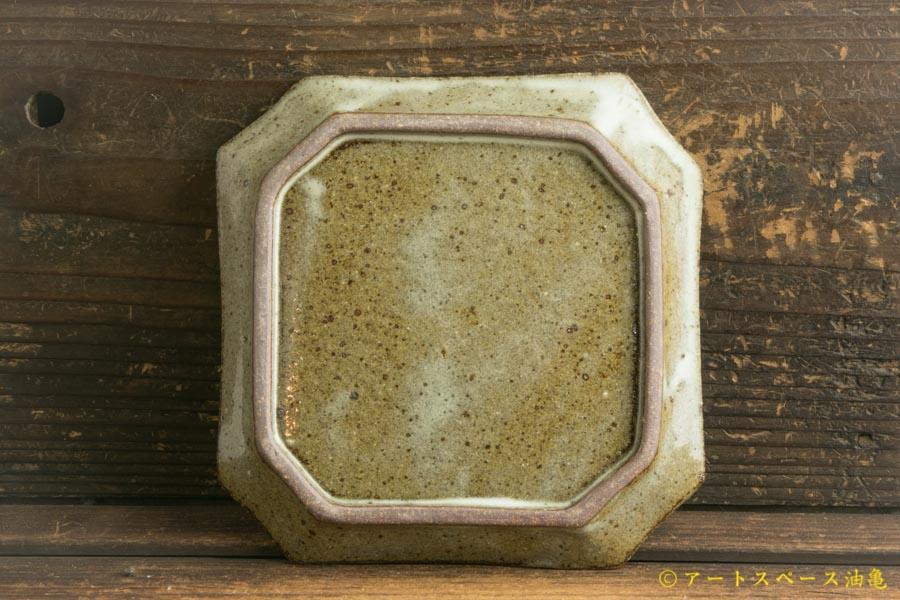 画像3: 寺村光輔「林檎灰釉 隅入角皿」