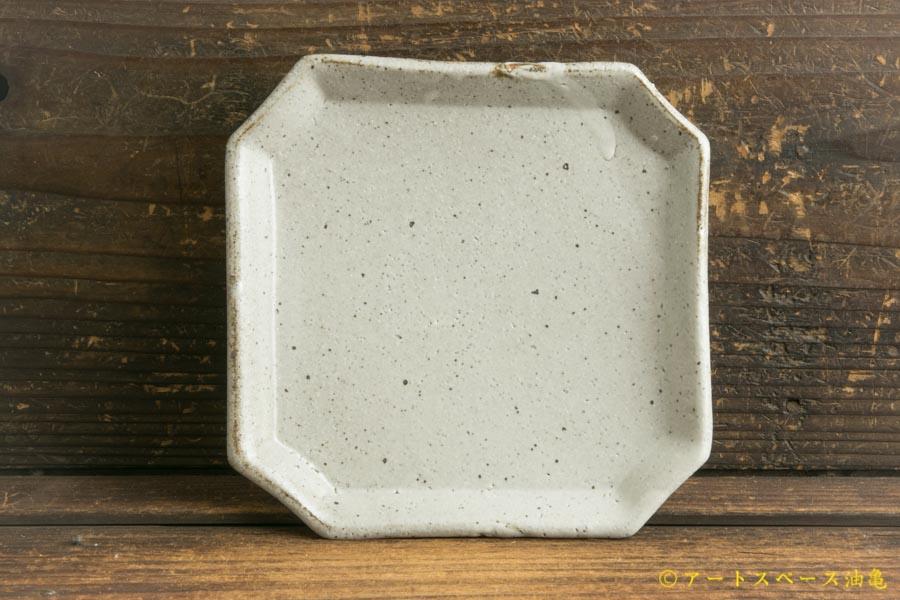 画像1: 寺村光輔「泥並釉 隅入角皿」
