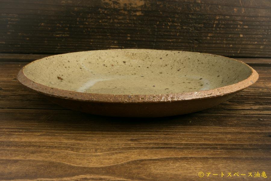 画像2: 寺村光輔「並白釉 8寸丸皿(薪)」