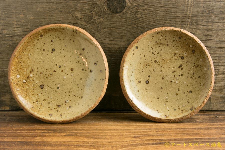 画像1: 寺村光輔「並白釉 4寸丸皿」