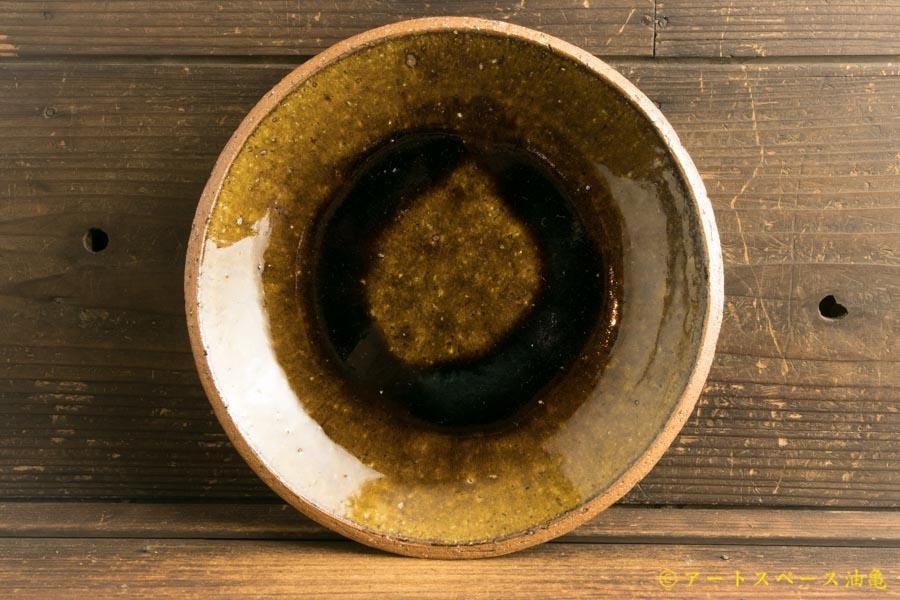 画像2: 寺村光輔「飴釉 8寸丸皿(薪)」