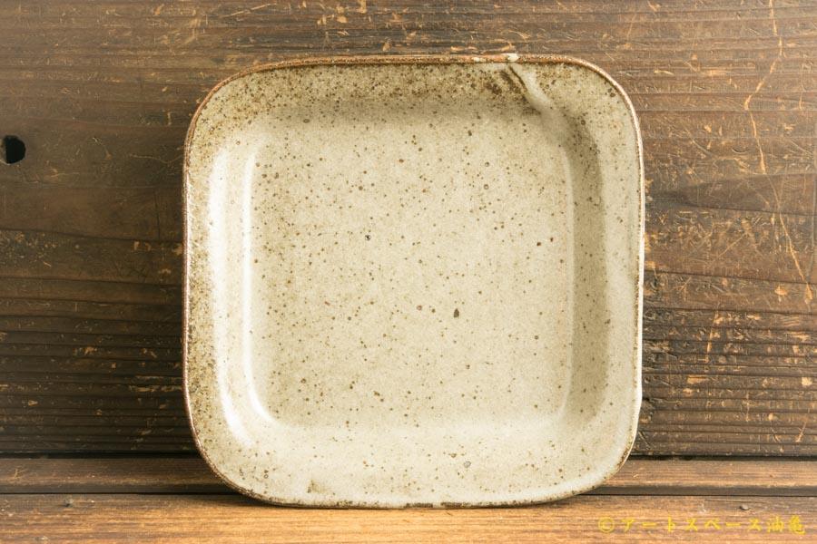 画像1: 寺村光輔「長石釉 正角皿」
