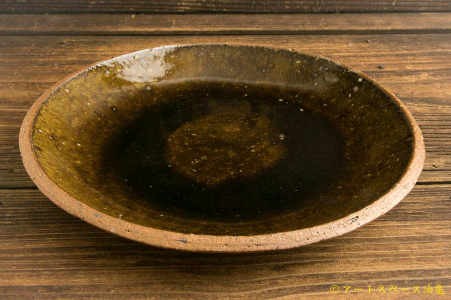 画像3: 寺村光輔「飴釉 8寸丸皿(薪)」