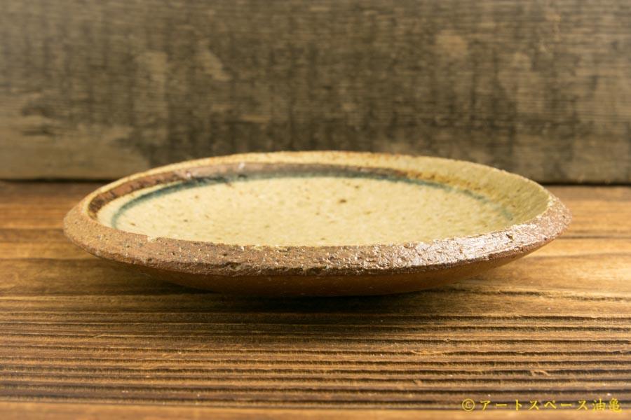 画像2: 寺村光輔「並白釉 呉須鉄絵 4寸丸皿(薪)」
