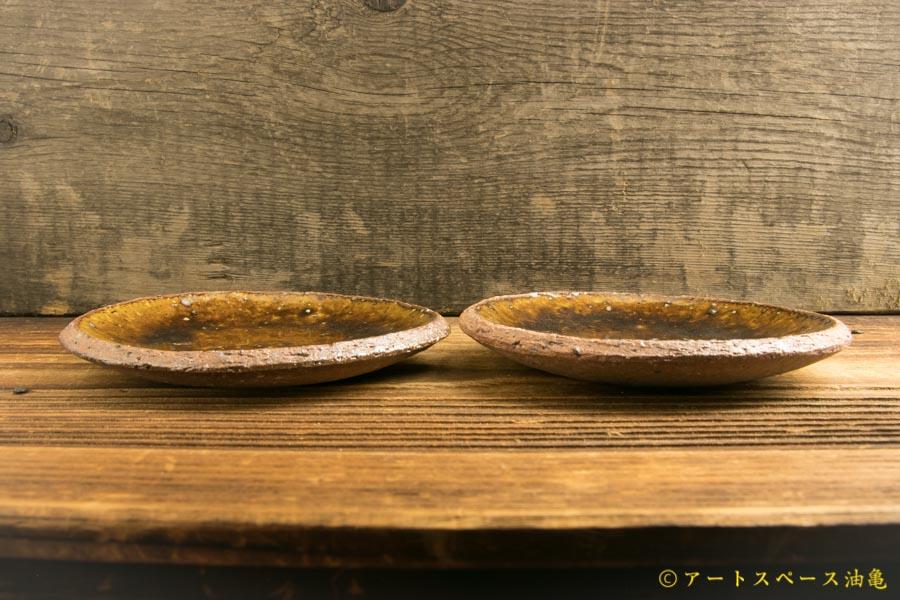 画像2: 寺村光輔「飴釉 4寸丸皿(薪)」