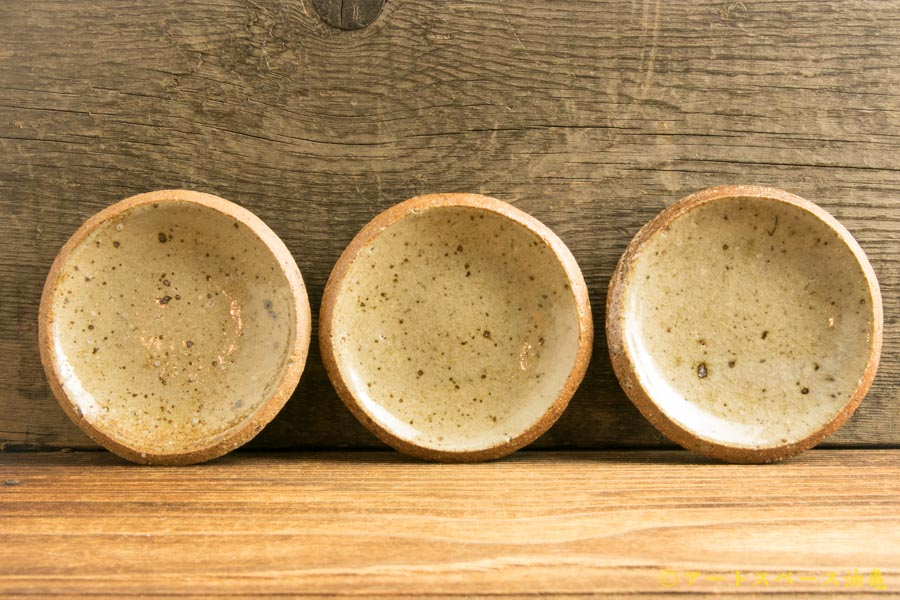 画像1: 寺村光輔「並白釉 3寸丸皿(薪)」