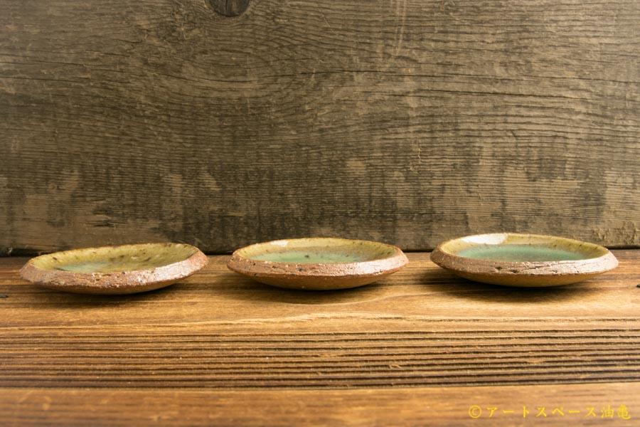 画像2: 寺村光輔「糠青磁釉 3寸丸皿(薪)」