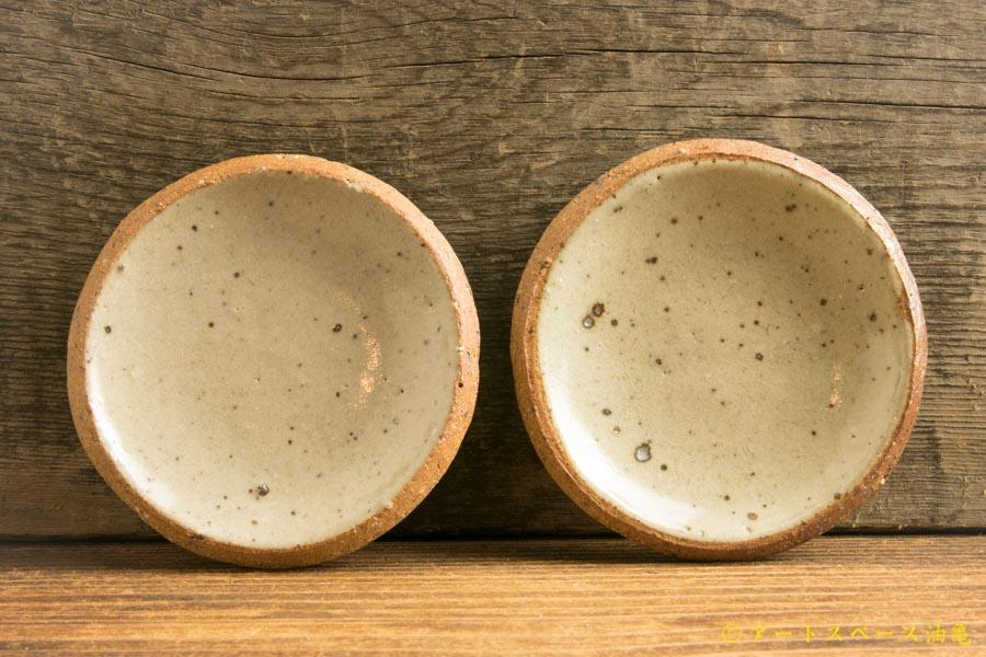 画像1: 寺村光輔「泥並釉 3寸丸皿(薪)」