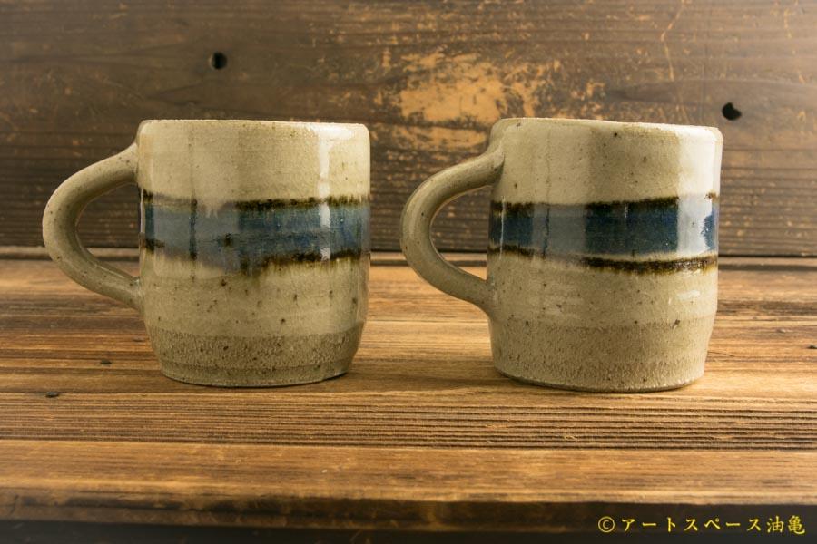 画像3: 寺村光輔「並白釉 呉須鉄絵マグカップ(小)(薪)」
