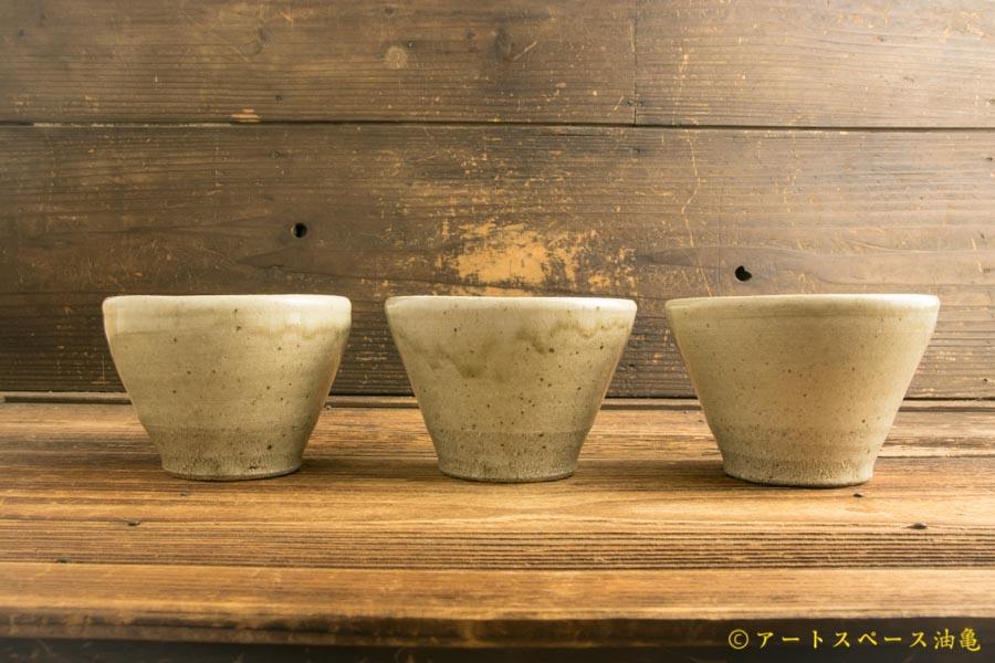 画像3: 寺村光輔「並白釉 カフェオレボウル(薪)」