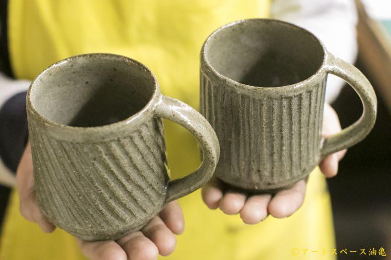 画像3: 寺村光輔「長石釉 鎬マグカップ」