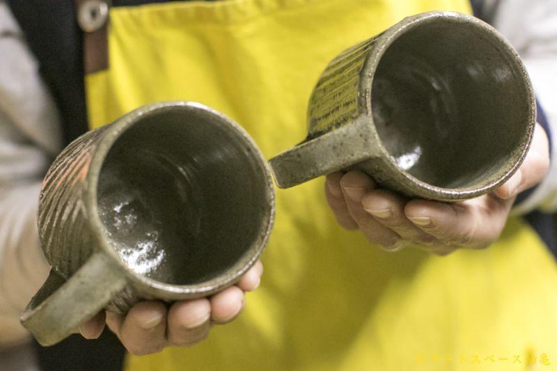 画像4: 寺村光輔「長石釉 鎬マグカップ」