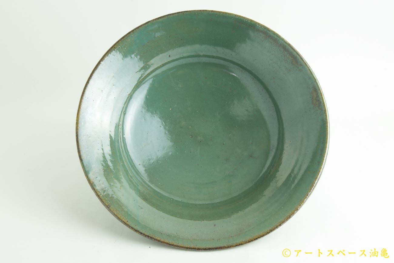 画像2: 寺村光輔「糠青磁釉 8寸鉢」