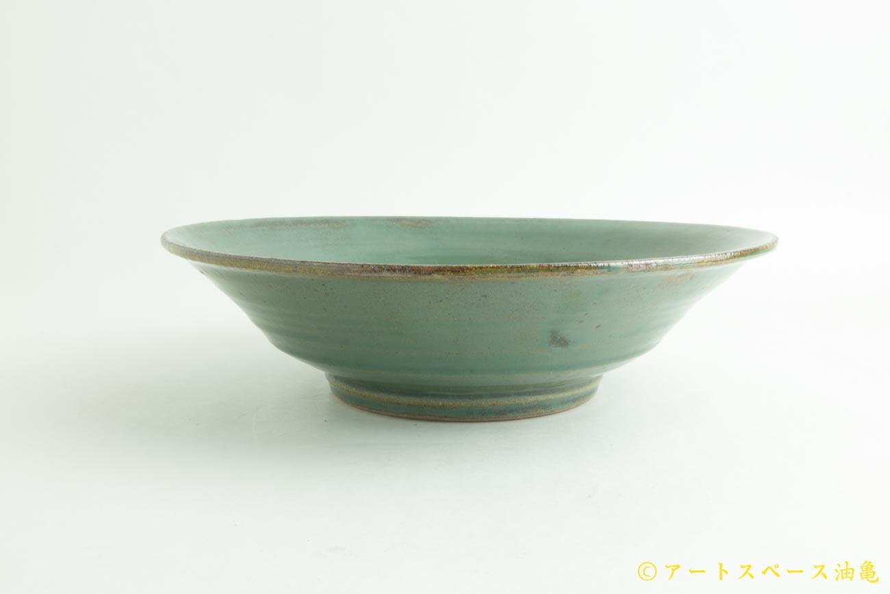 画像4: 寺村光輔「糠青磁釉 8寸鉢」