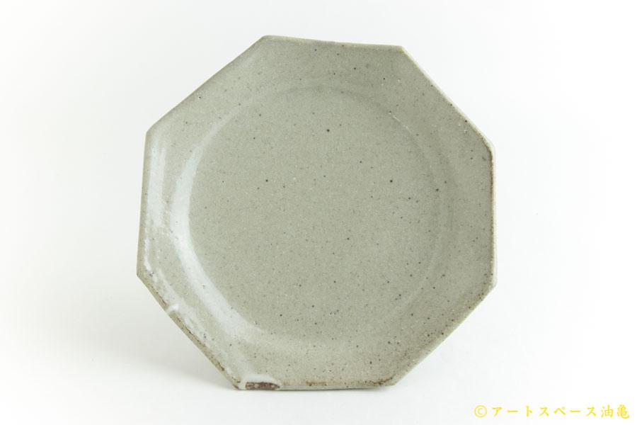 画像1: 寺村光輔「泥並釉 オクトゴナル5寸皿」