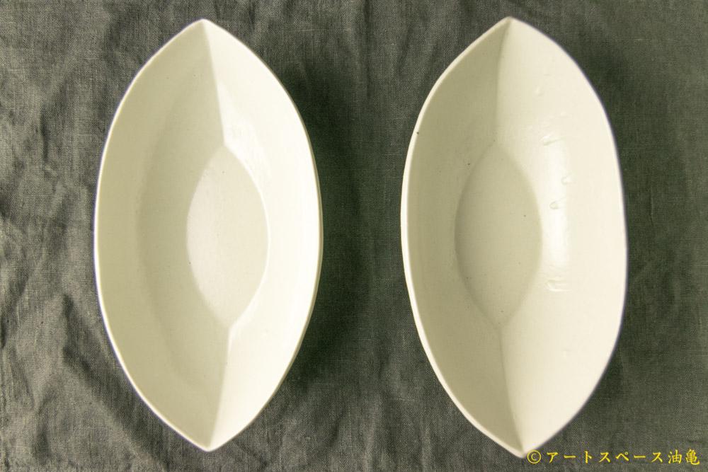 画像3: 遠山貴弘「白磁 舟形(大)」