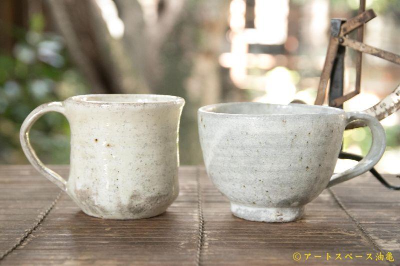 画像1:  坪井 俊憲 粉引 手付きカップ