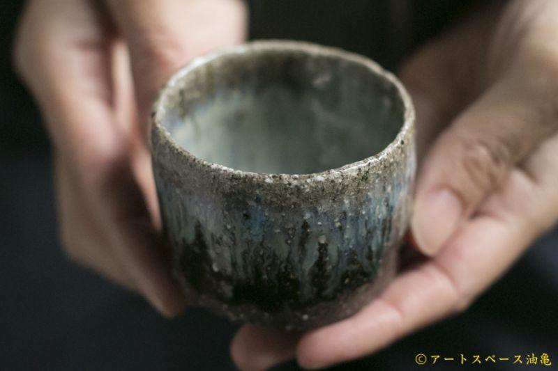 画像1: 梅田健太郎 朝鮮唐津 筒盃<共箱つき>