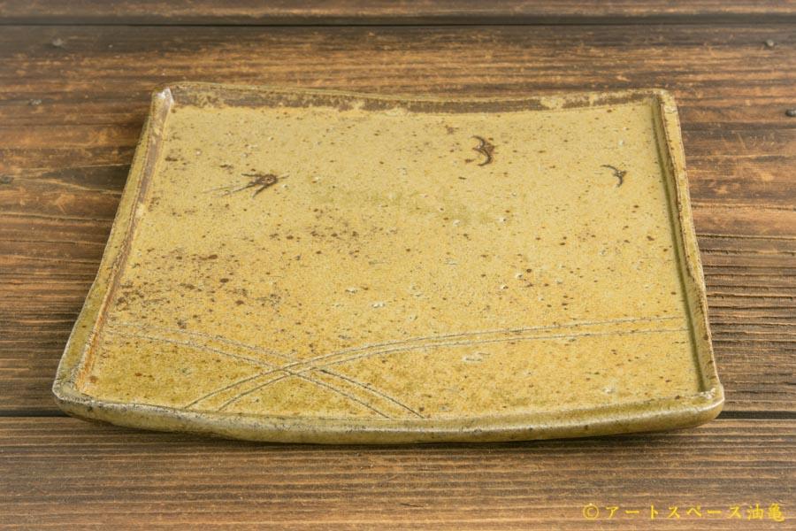 画像3: 梅田健太郎「松井農園マスカット オブ アレキサンドリア 唐津ブドウ灰釉 角皿」