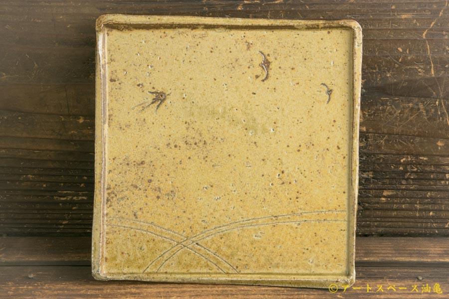 画像2: 梅田健太郎「松井農園マスカット オブ アレキサンドリア 唐津ブドウ灰釉 角皿」