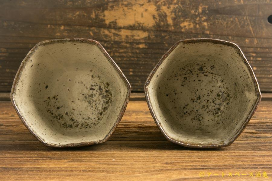 画像4: 梅田健太郎「粉引唐津 六角杯」