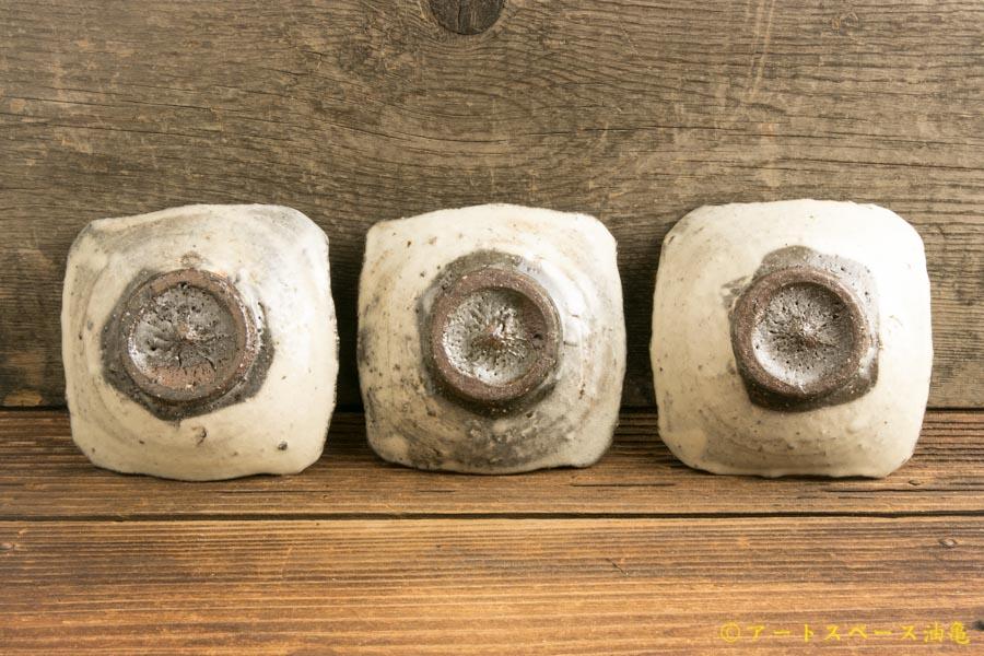 画像4: 梅田健太郎「粉引唐津 四方豆皿」